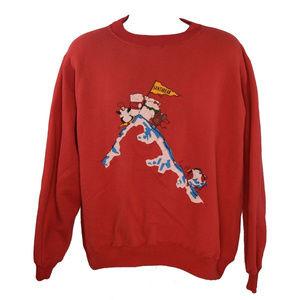 Vintage National Santa Bear Sweatshirt Red Size XL